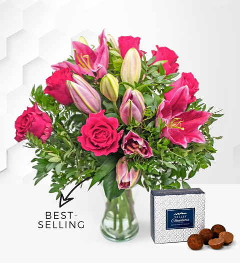 Logo Rose and Lily - Free Chocs - Flower Delivery - Next Day Flower Delivery - Flowers By Prestige Flower