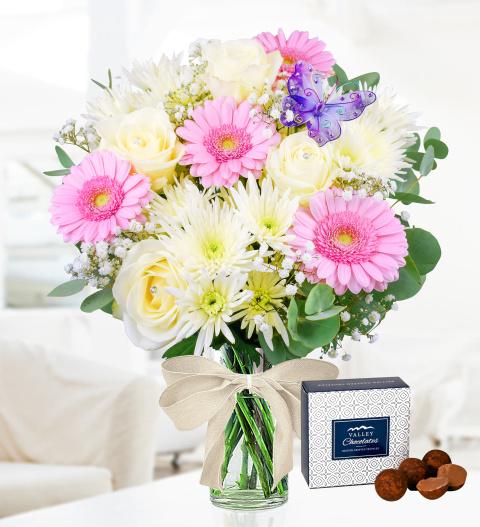 April Birthday Bouquet - Free Chocs - Birthday Flowers - Birthday Flower Delivery - Flowers For Her - Flowers For Birthday