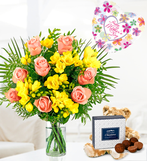 Freesia Mothers Day Gift - Free Chocs