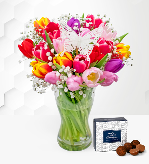 Tulip Supreme – Free Chocs – Mother's Day Flowers – Mother's Day Flower Delivery – Best Flowers For Mother's Day