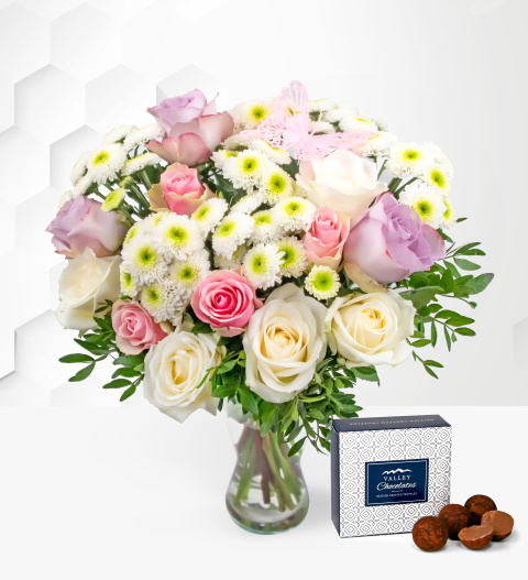 Rose Medley - Free Chocs - Flower Delivery - Flowers - Next Day Flower Delivery - Cheap Flowers - Birthday Flowers