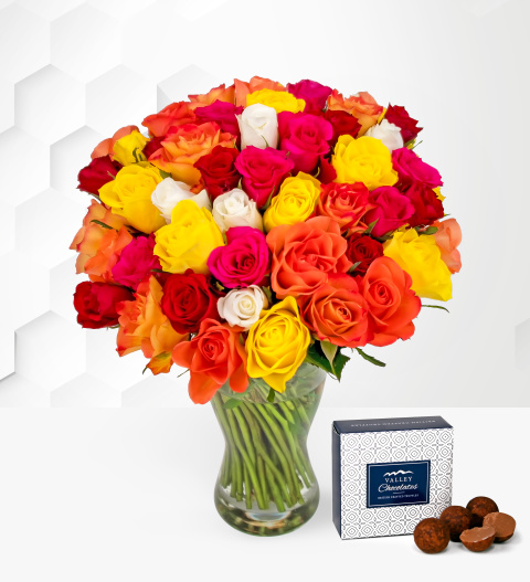 40 Roses - Free Chocs - Flower Delivery - Next Day Flowers - Flowers - Birthday Flowers