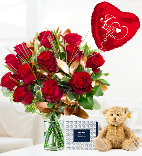 12 Rose Luxury Gift - Valentine's Flowers - Valentine's Gifts - 12 Red Roses - Luxury Flowers