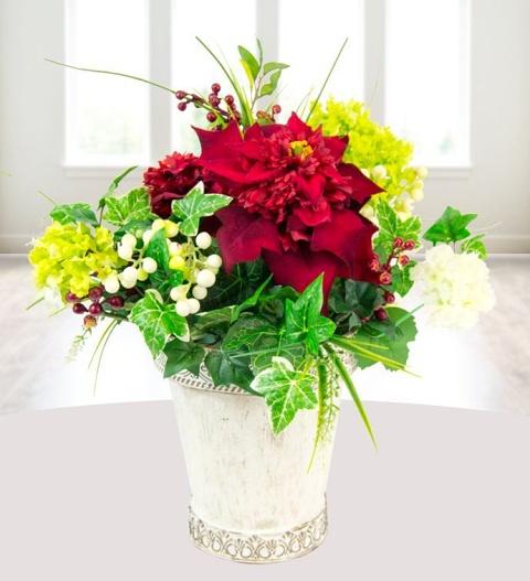 Silk Poinsettia Silk Flowers 2999 Free Chocolates Prestige