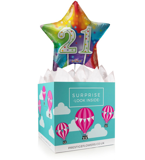 21 Today - Balloon in a Box Gifts - 21st Birthday Balloon - Birthday Balloon Gifts - Birthday Balloon Gift Delivery