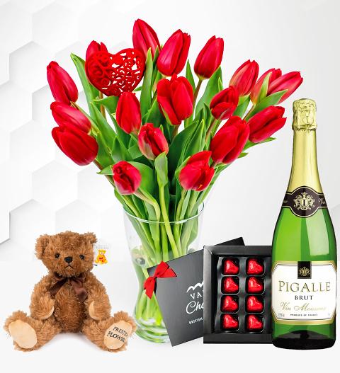 Valentine's Tulips Gift