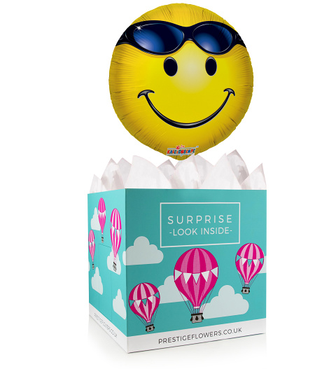 All Smiles Balloon Box - Balloon in a Box Gifts - Balloon Gift - Balloon Gift Delivery - Emoji Balloons - Emoji Balloon Gifts