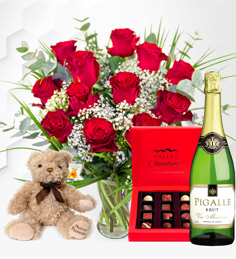 12 Red Roses Gift