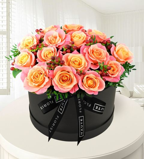 Perfectly Pink - Hat Box Flowers - Haute Florist - Birthday Flowers - Luxury Flowers - Luxury Flower Delivery