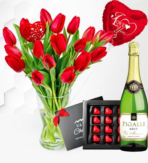 Valentine's Tulips Surprise
