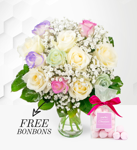 Unicorn Roses - Free Bon Bons - Roses Bouquet - Birthday Flowers - Next Day Flower Delivery