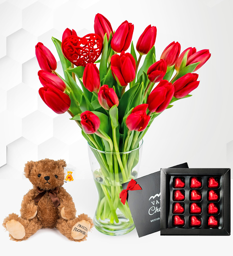 Flowers Valentine's Tulips Bundle