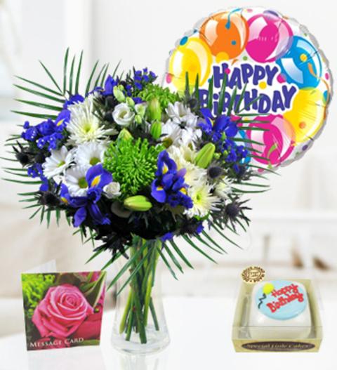 Lagoon Horizon Balloon Cake 3399