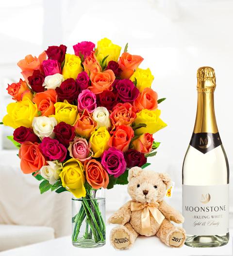 40 Roses Gift Set - Free Chocs
