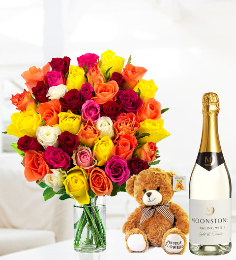40 Roses with Bubbly