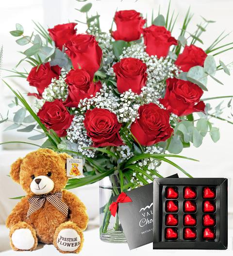 12 roses gift bundle valentines gifts 3999 free chocolates 12 roses gift bundle 3999 negle Choice Image