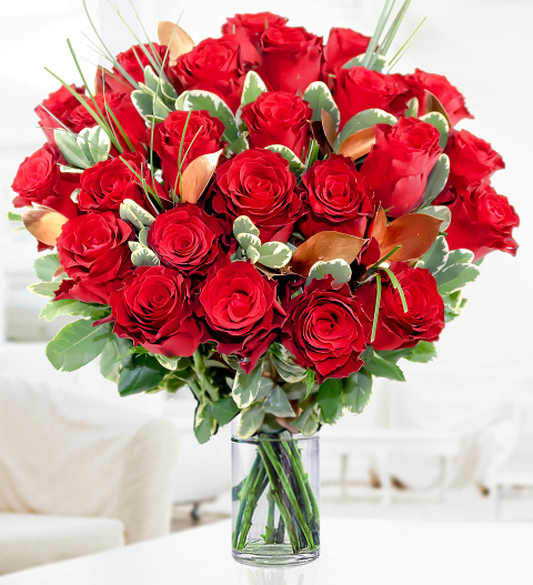 Luxury 24 Roses » Valentines Day Flowers £44.99 | FREE ...