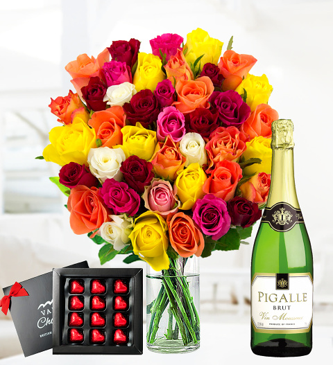 Roses, Bubbly and Chocs