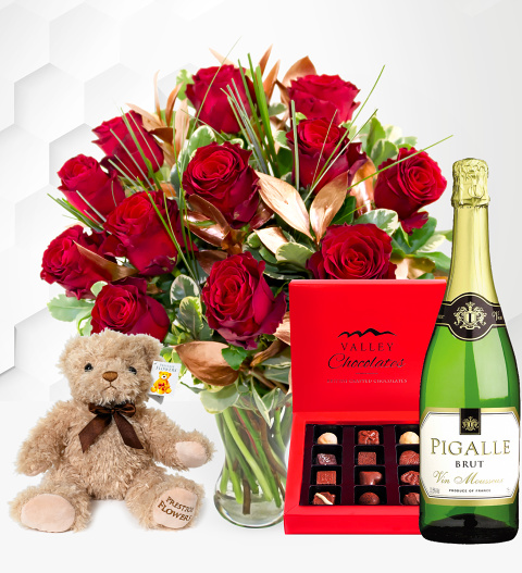 12 Luxury Red Rose Gift
