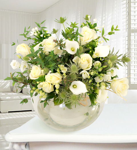 Rome - Haute Florist Bouquet - Luxury Flowers - White Bouquet - Luxury Flower Delivery
