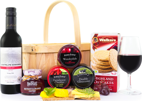 Hampers gifts from award winning prestige hampers cheese and wine basket negle Gallery