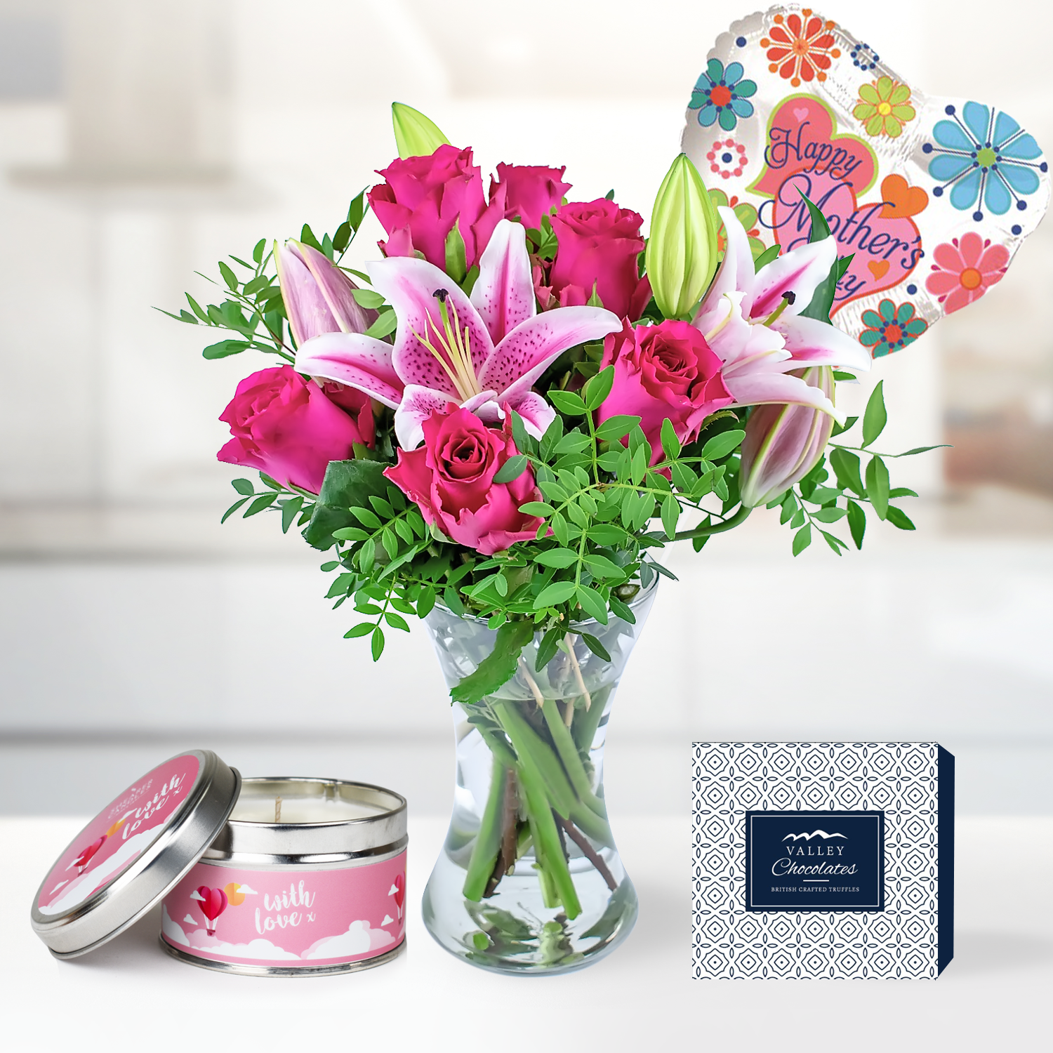Roses and Lily Gift