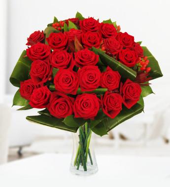 24 roses next day flowers free chocolates prestige flowers. Black Bedroom Furniture Sets. Home Design Ideas