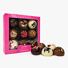 Pink Valley Chocolate Domes