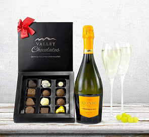 Free flower delivery on Bubbles with Chocs