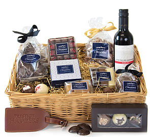 Free flower delivery on Yorkshire Chocolates Basket