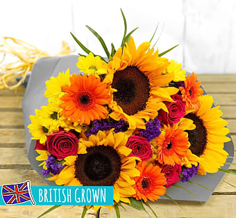 British Sunflowers Bouquet