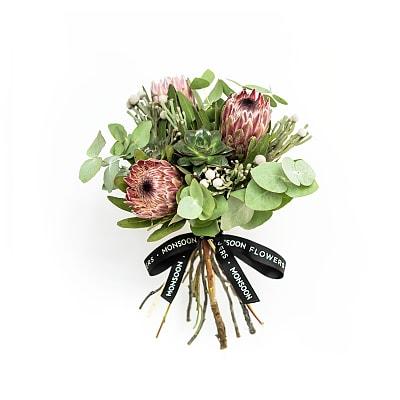 Pink Proteas & Succulent