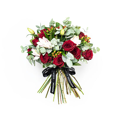 Free delivery on Crimson Rose & Lily