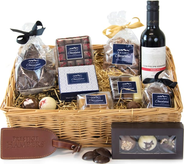 Free hamper delivery on Yorkshire Chocolates Basket