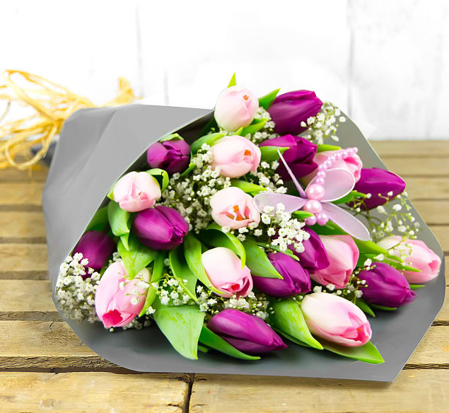 Free flower delivery on Tulips for Mum