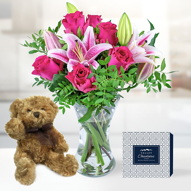 Roses and Lily Bundle
