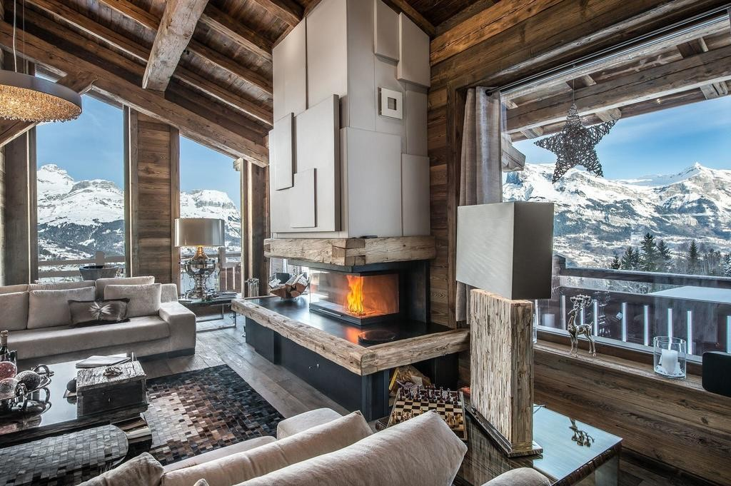 Image 5   Spectacular Ski Chalet for Sale in Megeve with 7 Bedrooms, Pool and Home Cinema 203157