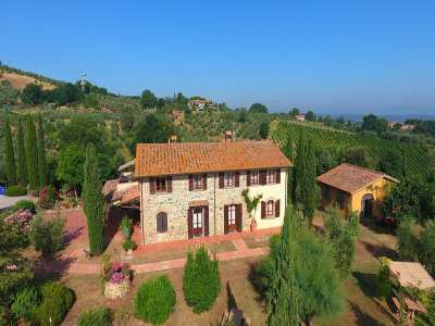 Image 1   7 bedroom villa for sale with 10 hectares of land, Montaione, Florence, Chianti Wine Region 209773