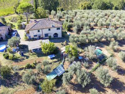 Image 1   4 bedroom farmhouse for sale with 27.6 hectares of land, Greve in Chianti, Florence, Chianti Wine Region 225842