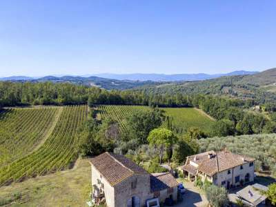 Image 2   4 bedroom farmhouse for sale with 27.6 hectares of land, Greve in Chianti, Florence, Chianti Wine Region 225842