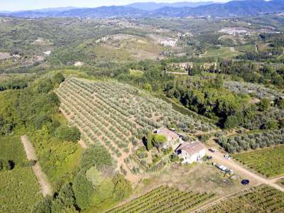 Image 4   4 bedroom farmhouse for sale with 27.6 hectares of land, Greve in Chianti, Florence, Chianti Wine Region 225842