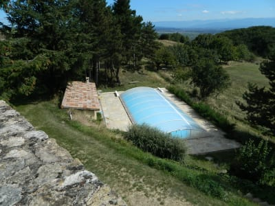Beautiful equestrian property for sale in the Ardeche with swimming pool and staff accommodation