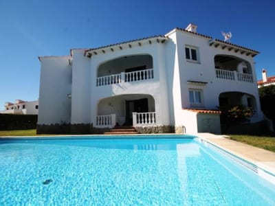 Villa of 4 apartments for rent in large garden with pool in Punta Grossa, Menorca for sale