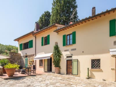 Historic Farmstead with Productive Vinyard and Olive Groves for sale in Tuscany with 18 hectares