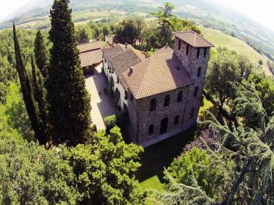 Superb Castle for Sale close to Florence with Tourist and Wine Business & 47 Hectares of Land