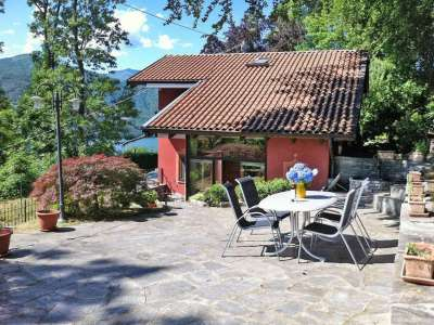 Delightful Chalet Style Villa with Guest Cottage for Sale on Lake Orta