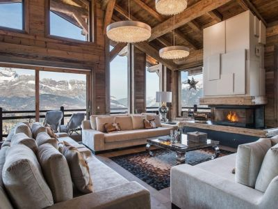 Spectacular Ski Chalet for Sale in Megeve with 7 Bedrooms, Pool and Home Cinema