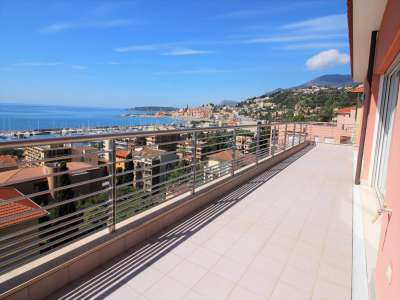 3 bedroom penthouse for sale, Menton Garavan, Menton, French Riviera
