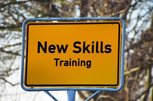 New skills training sign