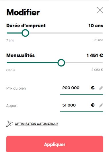 Prêt de 200 000 euros sur 10 ans avec une mensualité de 861 euros